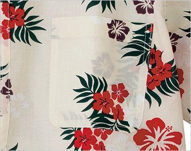 AZ56110 アイトス アロハシャツ(カジーマ)(男女兼用) ポケット付き