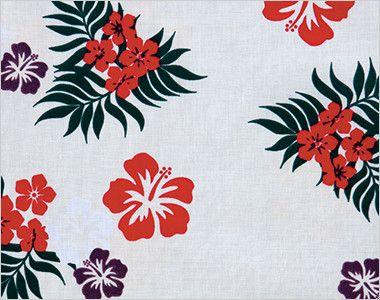 AZ56110 アイトス アロハシャツ(カジーマ)(男女兼用) 華やかな彩りのハイビスカス柄