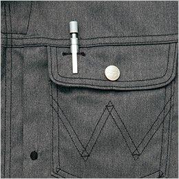 AZ64101 アイトス Wrangler(ラングラー) ジップアップジャケット(男女兼用) ペン差し付ポケット