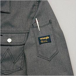 AZ64101 アイトス Wrangler(ラングラー) ジップアップジャケット(男女兼用) 左袖 ペン差し