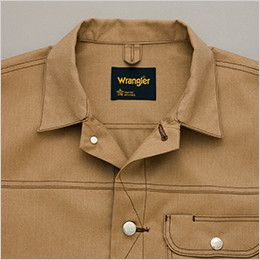 AZ64102 アイトス Wrangler(ラングラー) ボタンジャケット(男女兼用) 前タックボタン仕様