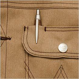 AZ64102 アイトス Wrangler(ラングラー) ボタンジャケット(男女兼用) 左胸 ペン差し