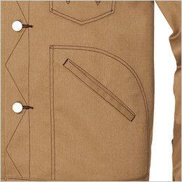 AZ64102 アイトス Wrangler(ラングラー) ボタンジャケット(男女兼用) 両脇 ポケット付