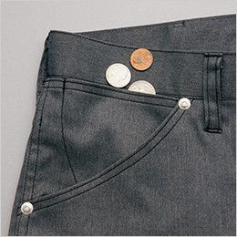AZ64120 アイトス Wrangler(ラングラー) ノータックワークパンツ(男女兼用) 小物収納用のサブポケット