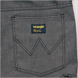 AZ64120 アイトス Wrangler(ラングラー) ノータックワークパンツ(男女兼用) ブランドロゴを象徴的に魅せるデザインステッチ