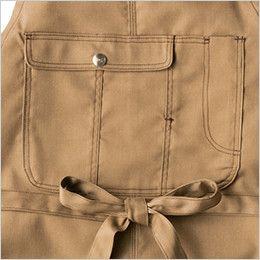 AZ64180 アイトス Wrangler(ラングラー) 胸当てエプロン(男女兼用) 収納力のあるフラップポケット
