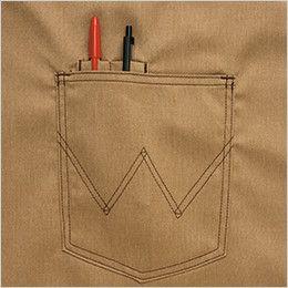 AZ64182 アイトス Wrangler(ラングラー) ショートエプロン(男女兼用) ペン差し付ポケット