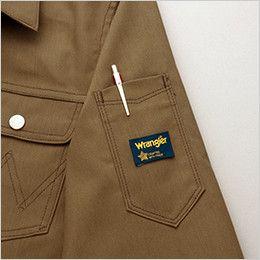AZ64201 アイトス Wrangler(ラングラー) ジップアップジャケット(男女兼用) 左袖 ペン差し