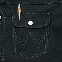 AZ64202 アイトス Wrangler(ラングラー) ボタンジャケット(男女兼用) 左胸 ペン差しポケット