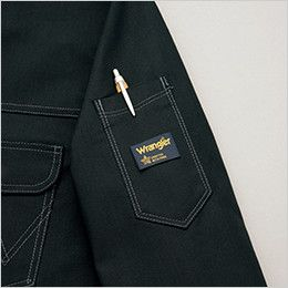 AZ64202 アイトス Wrangler(ラングラー) ボタンジャケット(男女兼用) 左袖 ペン差し