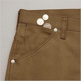 AZ64221 アイトス Wrangler(ラングラー) ノータックカーゴパンツ(男女兼用) 小物収納用のサブポケット