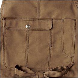 AZ64280 アイトス Wrangler(ラングラー) 胸当てエプロン(男女兼用) 収納力のあるフラップポケット