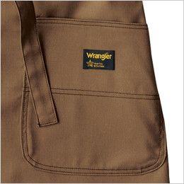 AZ64280 アイトス Wrangler(ラングラー) 胸当てエプロン(男女兼用) 両脇 大型フロントポケット