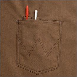 AZ64282 アイトス Wrangler(ラングラー) ショートエプロン(男女兼用) ペン差し付ポケット