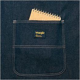 アイトス AZ64380 Wrangler(ラングラー) 胸当てエプロン(男女兼用) 両脇 大型フロントポケット