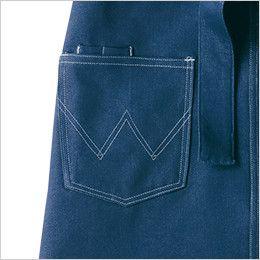AZ64382 アイトス Wrangler(ラングラー) ショートエプロン(男女兼用) 両脇 ポケット