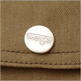 AZ64430 Wrangler(ラングラー) ジップアップジャケット(男女兼用) ロゴ入り刻印ドットボタン
