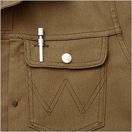 AZ64430 Wrangler(ラングラー) ジップアップジャケット(男女兼用) ペンが出し入れしやすい使用のペン差し付ポケット