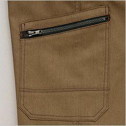 AZ64451 Wrangler(ラングラー) ノータックカーゴパンツ(男女兼用) 収納時の落下を防ぐ便利なファスナーカーゴポケット