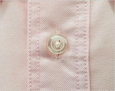 AZ7822 アイトス カナディアンクリーク 長袖T/Cオックスシャツ(男女兼用) ボタン部分