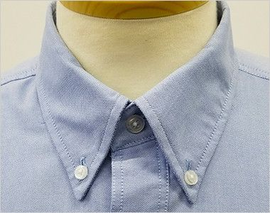 AZ7823 アイトス カナディアンクリーク 半袖T/Cオックスシャツ(男女兼用) きっちりした印象のボタンダウンの襟元