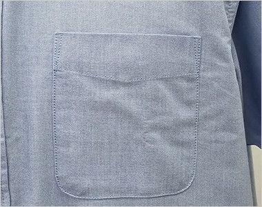 AZ7872 アイトス オックスボタンダウンシャツ/半袖(男性用) ポケット付き