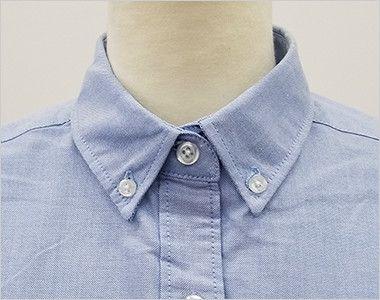AZ7873 アイトス オックスボタンダウンシャツ/半袖(女性用) きっちりした印象のボタンダウンタイプ