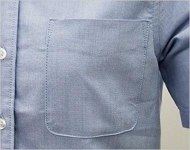 AZ7873 アイトス オックスボタンダウンシャツ/半袖(女性用) ポケット付き