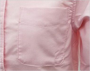 AZ7875 アイトス オックスボタンダウンシャツ/七分袖(女性用) ポケット付き