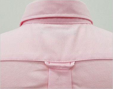 AZ7875 アイトス オックスボタンダウンシャツ/七分袖(女性用) 背タック・ハンガーループ