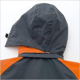 アイトス AZ8471 [秋冬用]業務用 防風防寒ショートコート[フード付・取外し可能] 取り外し可能フード