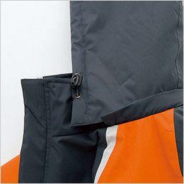 アイトス AZ8471 [秋冬用]業務用 防風防寒ショートコート[フード付・取外し可能] フードドローコード