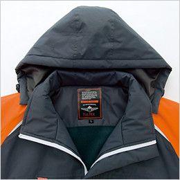 アイトス AZ8471 [秋冬用]業務用 防風防寒ショートコート[フード付・取外し可能] ネーム