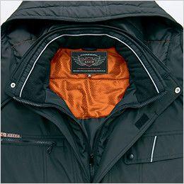 アイトス AZ8560 防風防寒コート[フード付き・取り外し可能] 衿フリース+反射パイピング