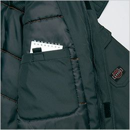 AZ8560 アイトス 防風防寒コート[フード付き・取り外し可能] パッチポケット