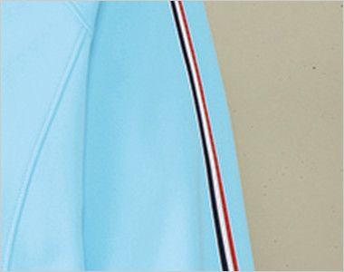 UZL1011 ルコック ジャージ ジャケット(男女兼用) 肩から袖にかけてのトリコロールテープがフレンチテイストを演出