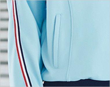 UZL1011 ルコック ジャージ ジャケット(男女兼用) 両側ポケット