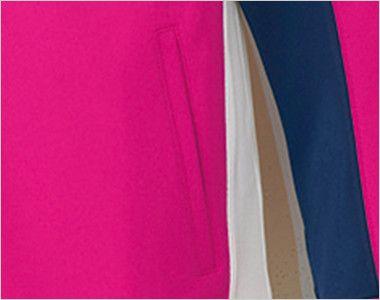 UZL1021 ルコック ジャージ ジャケット(男女兼用) シャープなシルエットを実現するウエストのホワイト配色
