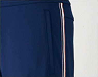 UZL2011 ルコック ジャージ ストレートパンツ(男女兼用) 脚線美を際立たせるトリコロールテープがアクセント