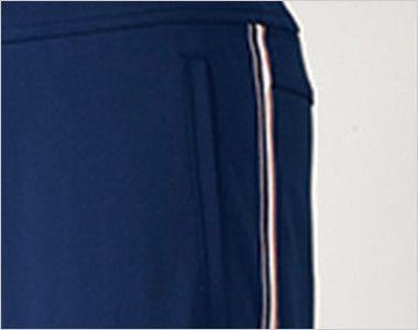 UZL2012 ルコック ジャージ ブーツカットパンツ (女性用)スポーティなサイドライン 脚線美を際立たせるトリコロールテープがアクセント