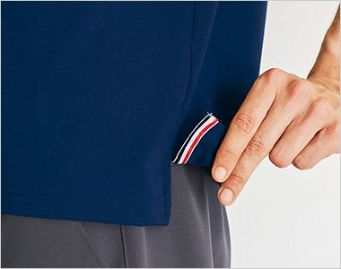 UZL3011 ルコック ライン ドライポロシャツ(男女兼用) 裾口にスリット入り
