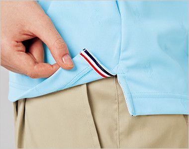 UZL3013 ルコック ドライポロシャツ(男女兼用) 裾口にスリット入り