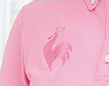 UZL3020 ルコック ドライ ボタンダウンポロシャツ(女性用) ロゴ刺繍入りでオシャレを演出