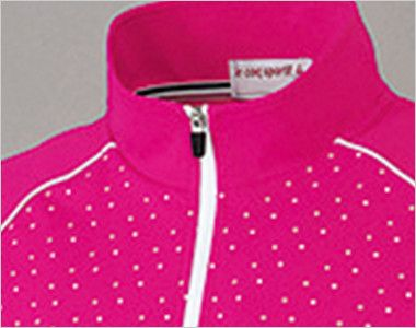UZL3027 ルコック ジップアップポロシャツ(男女兼用) 着脱が容易で、スピーディーな体温調節も可能