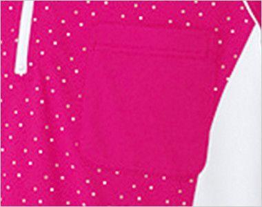 UZL3027 ルコック ジップアップポロシャツ(男女兼用) ポケット付き