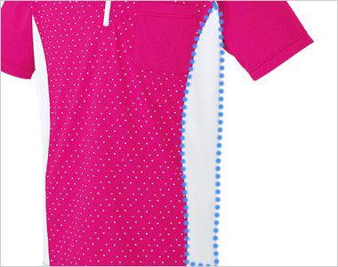 UZL3027 ルコック ジップアップポロシャツ(男女兼用) サイドのパネル切り替えがスタイリッシュな雰囲気を演出