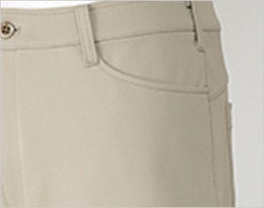 UZL4021 ルコック ニットスラックスパンツ(男性用) ポケット