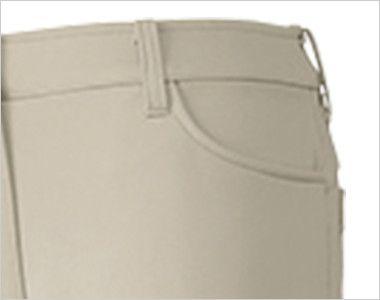 UZL4022 ルコック ジャージ ニットスラックスパンツ (女性用) ポケット