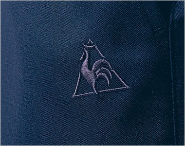 UZL4027 ルコック ワンタックスラックスパンツ(男女兼用) 同系色のロゴ刺繍が高級感を漂わせます