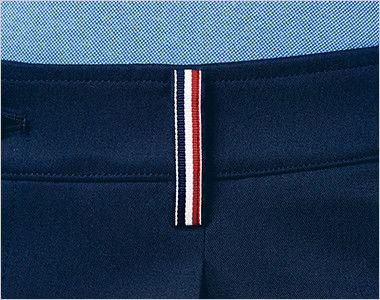 UZL4028 ルコック ジャージ ワンタックスラックスパンツ(女性用) ベルトループの3色テープが彩りを添えます